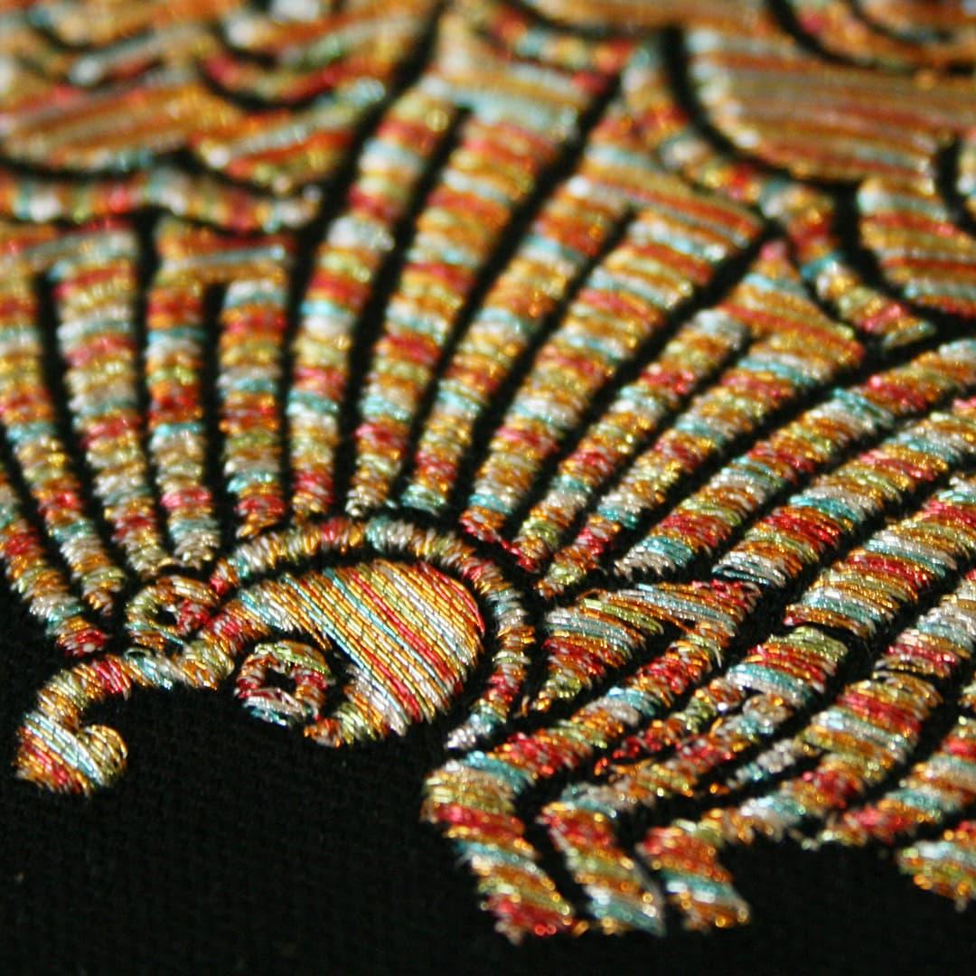 家紋刺繍額彩