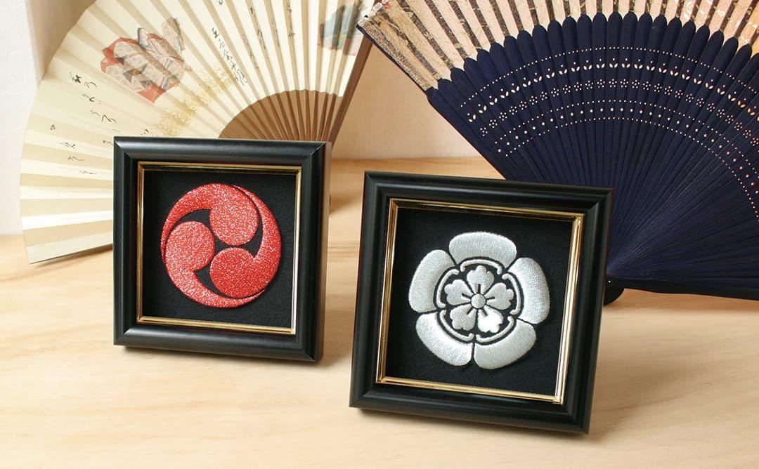 家紋刺繍額彩華展示風景1