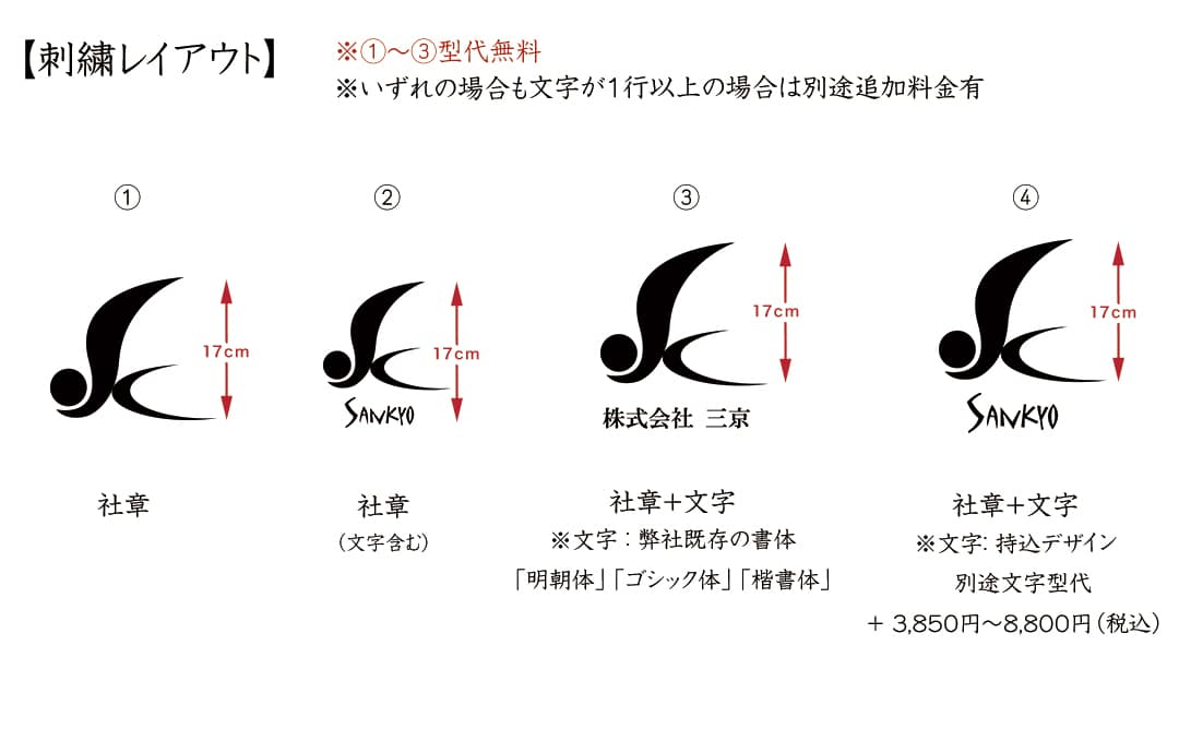 慶額 刺繍サイズ