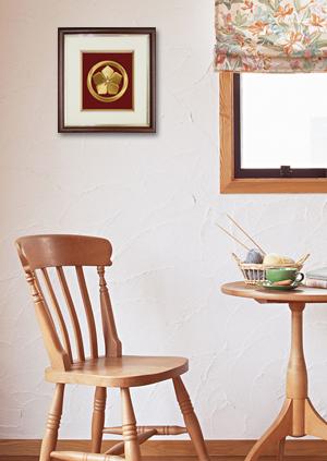 家紋刺繍額 祥額 飾る 展示イメージ画像