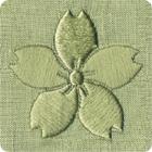 背紋 機械刺繍 日向縫い