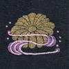 菊に流水 着物 お洒落紋蘭 お洒落紋 着物 華紋 刺繍 加賀紋
