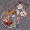桜菖蒲蘭 着物 お洒落紋蘭 お洒落紋 着物 華紋 刺繍 加賀紋