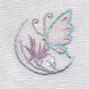 蝶と蘭 着物 お洒落紋蘭 お洒落紋 着物 華紋 刺繍 加賀紋
