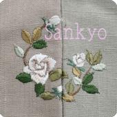 薔薇 お洒落紋 着物 華紋 刺繍 加賀紋