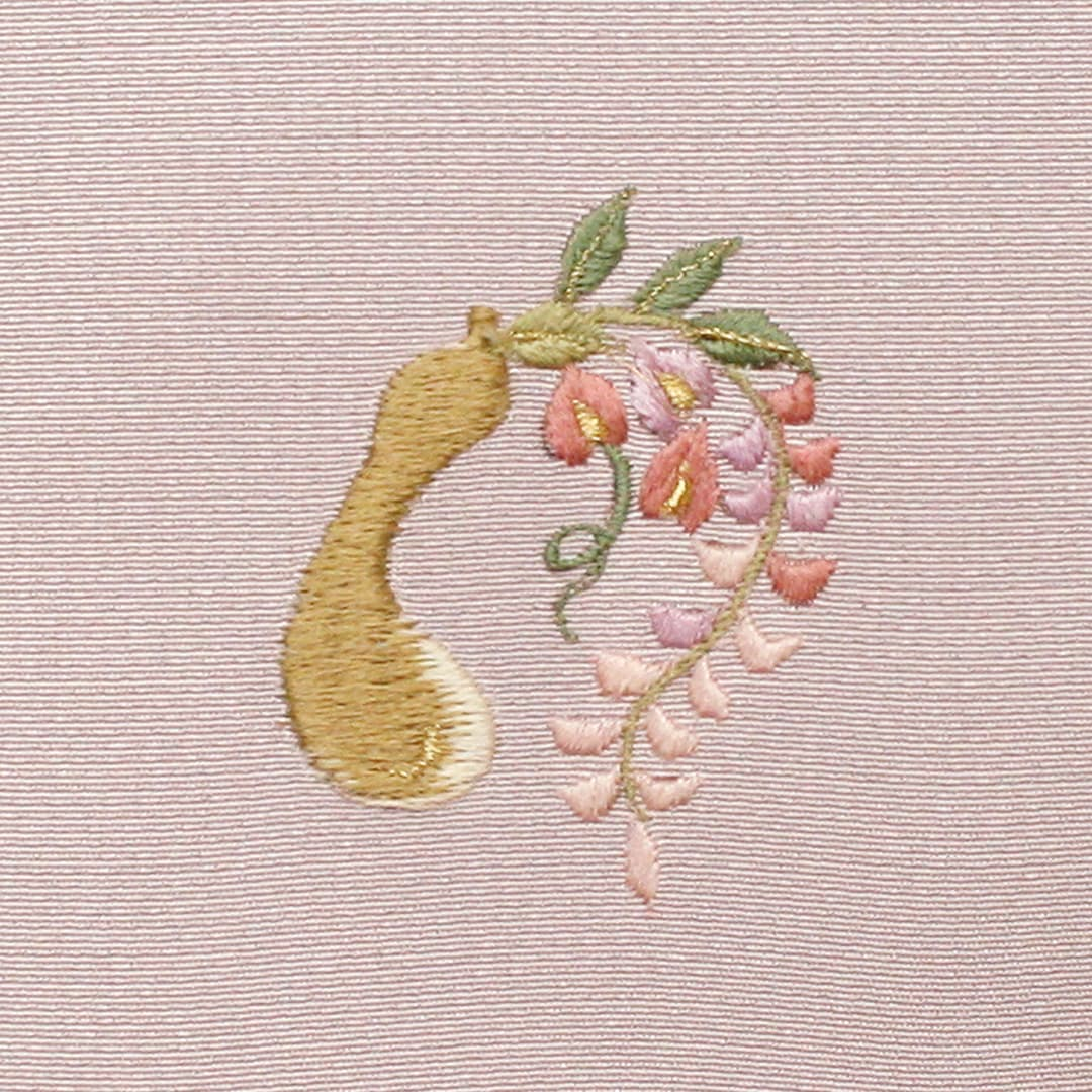 【瓢箪と藤】 お洒落紋 着物 華紋 刺繍 加賀紋