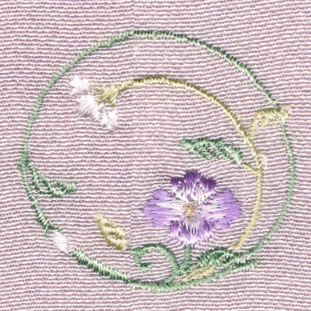 【変り花菱枝丸】 お洒落紋 着物 華紋 刺繍 加賀紋
