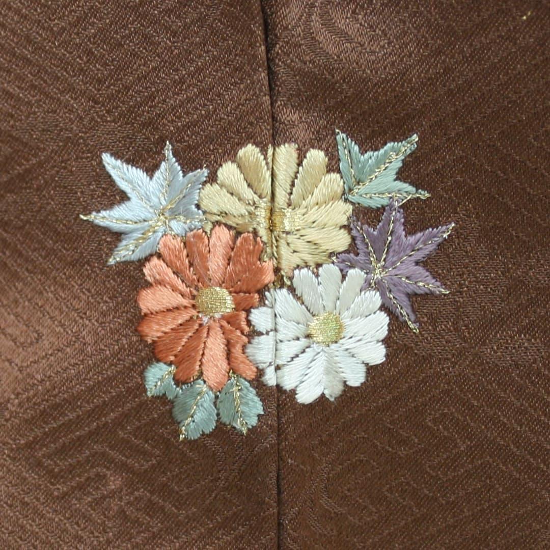 【(M-5)菊】 お洒落紋 着物 華紋 刺繍 加賀紋