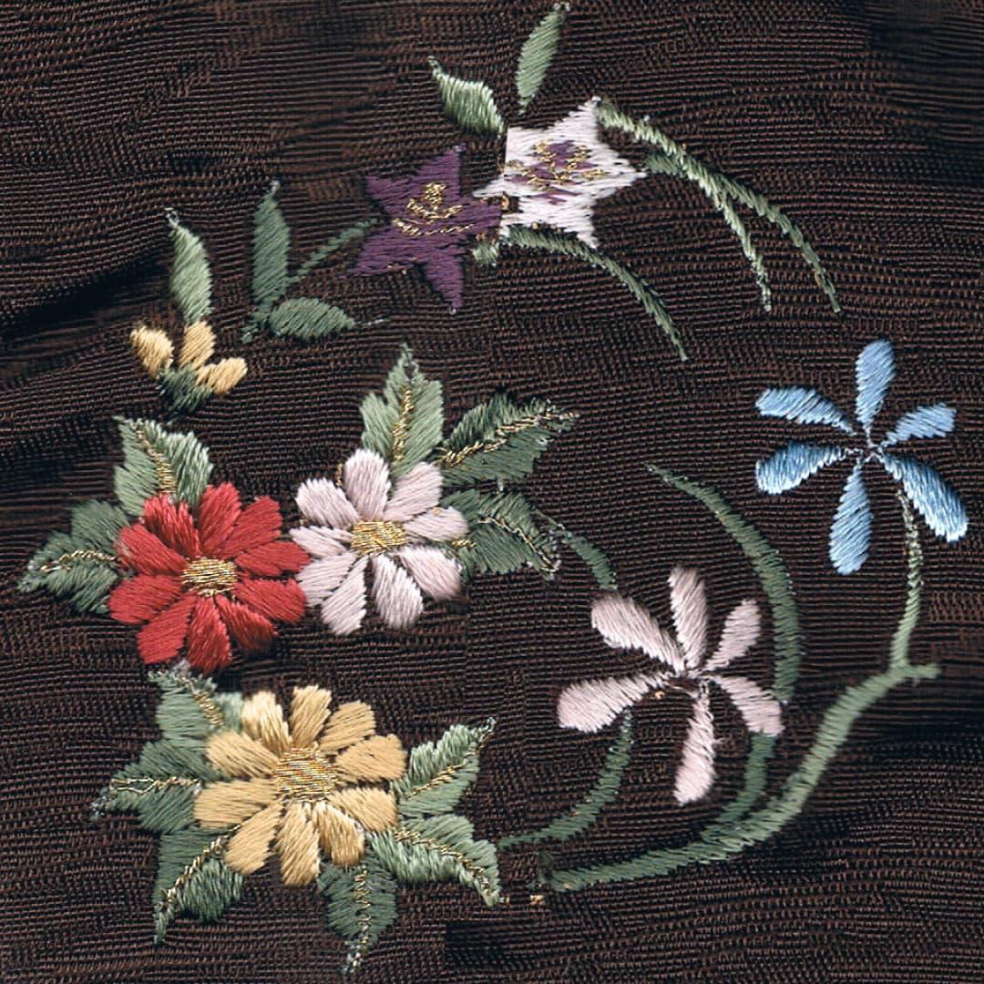 【菊と桔梗】 お洒落紋 着物 華紋 刺繍 加賀紋