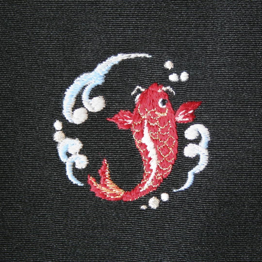【鯉】 お洒落紋 着物 華紋 刺繍 加賀紋