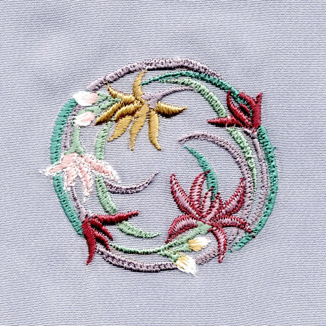 【蘭】 お洒落紋 着物 華紋 刺繍 加賀紋