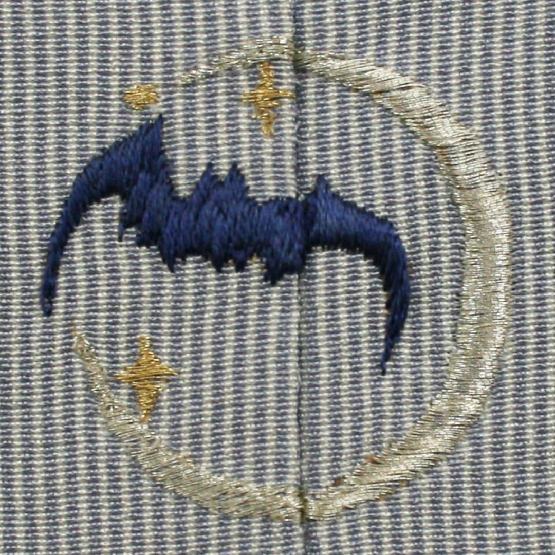 【月とコウモリ】 お洒落紋 着物 華紋 刺繍 加賀紋
