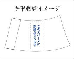 手甲刺繍範囲イメージ