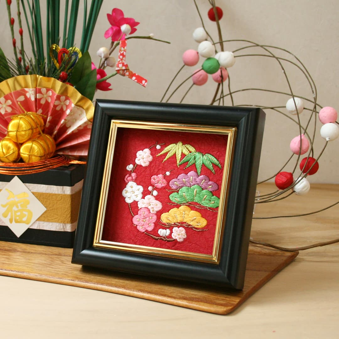 お正月飾り 和刺繍