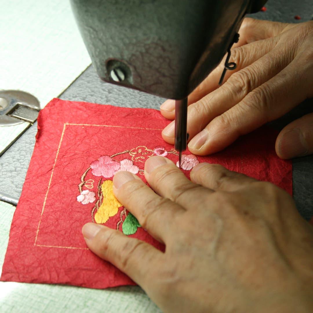 和紙繍展示イメージ
